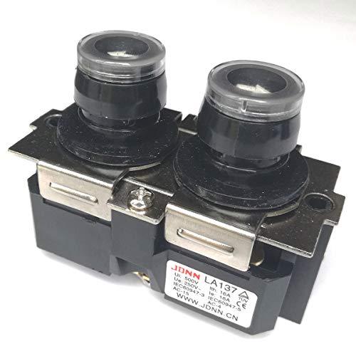 LA137 16A 220VDC 380VAC NO Oben Unten Wasserdicht Industrieschalter Druckschalter Drucktastenschalter für Kran Elektrohebezeug (LA137-A)