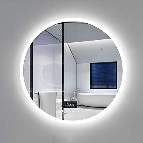 zzx Badspiegel Wandspiegel Spiegel Bad Moderner Beleuchteter Badezimmerspiegel mit Induktion des Menschlichen...
