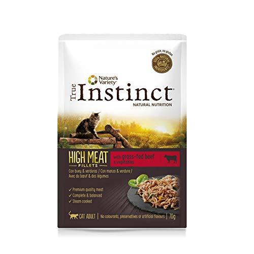 True Instinct - Comida húmeda para Gatos Adultos True instinc High Meat fillets Buey y Verduras 70 gr 🔥