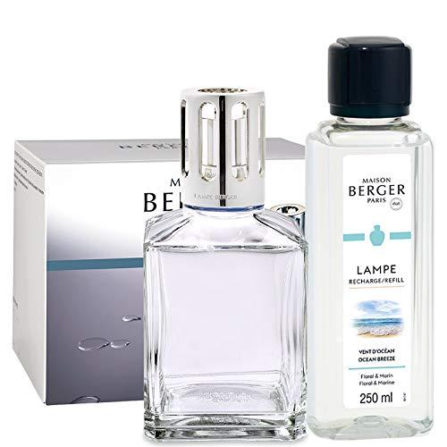 Maison Berger Paris - Coffret Lampe Berger Essentielle Ronde - Parfum Vent dOcéan