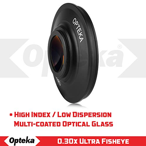 Opteka OPT-SC43FE Platinum Series 0.3X HD Ultra Fisheye Lens for 43mm Digital Video Camcorders
