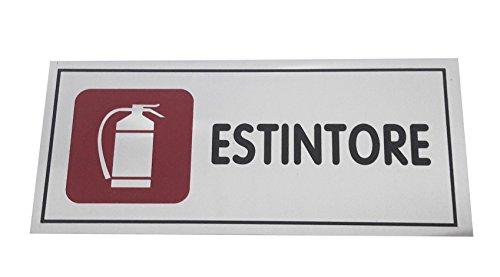 takestop Cartello Adesivo in Metallo estintore PRESENZA INDICATIVA INDICAZIONI SEGNALETICA Targa TARGHETTA Adesiva CARTELLI