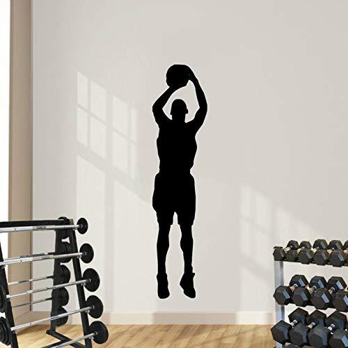 yaonuli Wandaufkleber Vinyl Home Decor Basketball Raumdekoration Mann Sport Wandbild 68X15cm