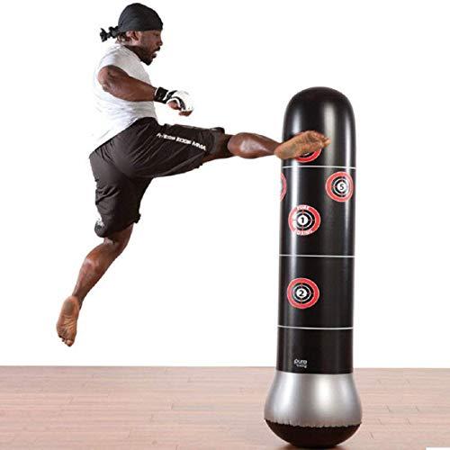 Ducomi Sacco Boxe Gonfiabile - Kit Pugilato, Kick Boxing, FitBoxe - Sacco Pugile e Pompa per Gonfiaggio - Saccone Base Riempibile con Acqua, Sabbia per Adulti e Bambini - Casa, Palestra (L)