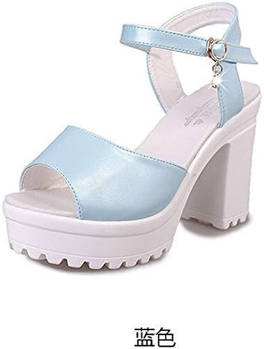 Sandales Sandales femmes femmes femmes épais d'été Chaussures Muffin Version coréenne nouvelle orteils Chaussures Chaussures Rome Laine ue35CN36 noir f59