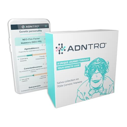 Test DNA ADNTRO GENETICA - Kit DNA - Test genetico completo attraverso un campione di saliva - Test genetico completo con aggiornamento del vostro rapporto con nuovi dati e risultati