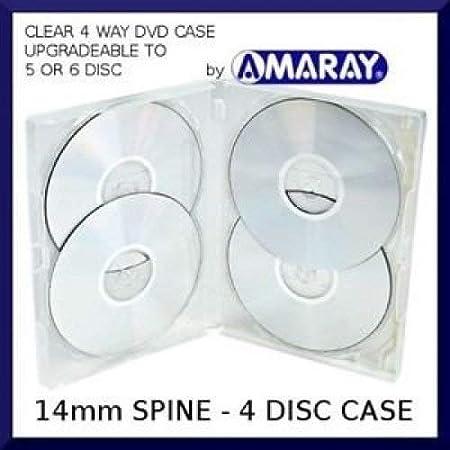 10 x Amaray Multi 4 DVD Case - Caja de 4 vías para 4 discos en caja transparente para 4 discos en embalaje de la marca Dragon Trading.