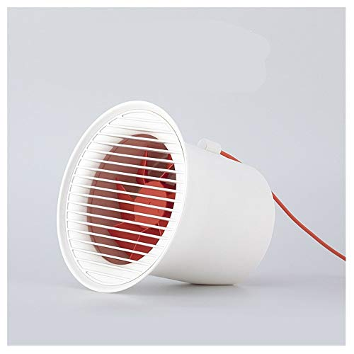 Mini ventilatore USB Desktop ricaricabile Muto portatile Comodino Studente Dormitorio Ventilatore Vento potente (Color : White)