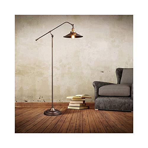 DyAn Lámpara de Piso, Estilo Industrial Loft Retro del Brazo del oscilación del Arco de Pesca lámpara de pie Lámpara de pie Ajustable