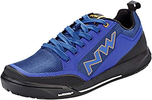 NORTHWAVE Sapatos MTB NW Clan, Zapatillas Unisex Adulto, Azul Y Naranja, 41 EU