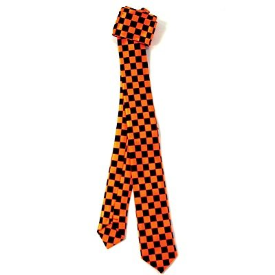 Rock de cravate Checker Orange Fluo
