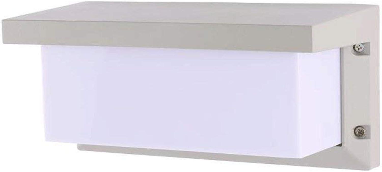 FuweiEncore LED-Wandleuchte Outdoor-Lounge im Inland der Beleuchtung Nachttischlampe Balkon Road Lights Garten Beleuchtung Lichter Wandleuchte (Farbe  Schwarz Sand-3500K) (Farbe   Sand Silber-3500k)