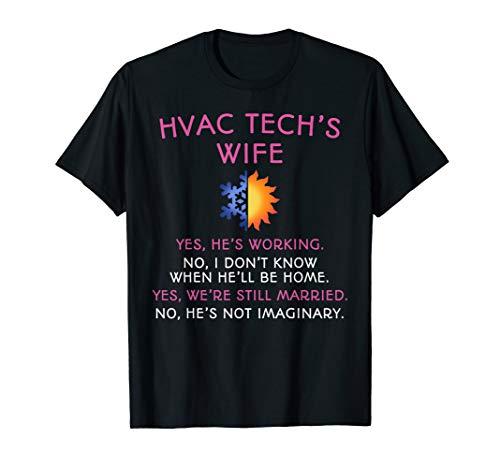HVAC Tech Wife Shirt HVAC Technicians T-Shirt Gift for Women