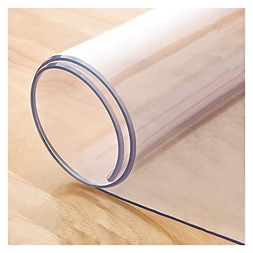ALGXYQ Mantel Transparente 1,5/2,0/3,0 MM Alfombrillas PVC Antideslizantes para Protección de Escritorio y Suelo Una Variedad de Tamaños, Se Puede Personalizar