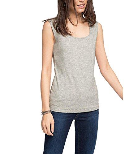 edc by Esprit 026CC1K030-Basic Camiseta sin Mangas, Gris (Light Grey 040), M para Mujer