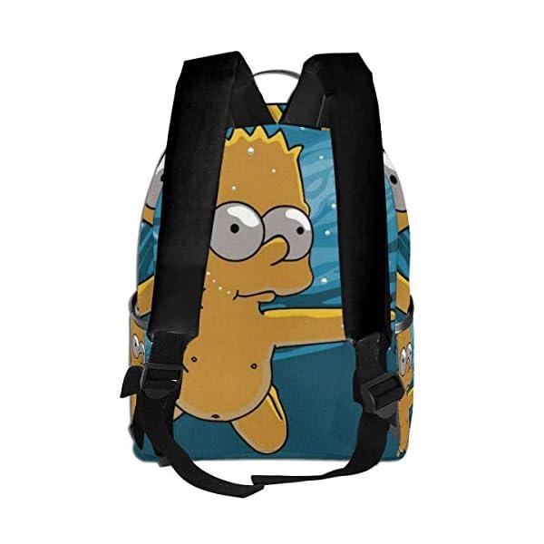 41OmiZVN2jL. SS600  - Anime Cartoon Simpsons - Mochila para Estudiantes, Unisex, diseño de Dibujos Animados, 14,5 x 30,5 x 12,7 cm