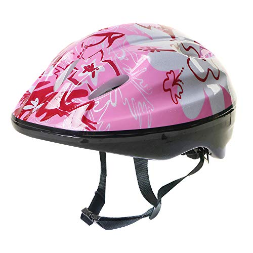 La Sports Junior Kids Childs Pink Girls Cycling Bike Helmet With Adjustable Headband For A Safer Fit Age Guide 3 4 5 6 7 8 yrs Ideal First Childrens Helmet