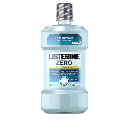 Listerine 500 ml Mint Zero Mild Mouthwash
