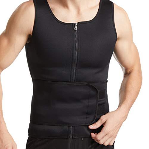 Litthing Chaleco Sauna para Hombre Fajas Deportivas Chaleco Sudoracion Camiseta Térmica Muscular Vest para Deporte Fitness