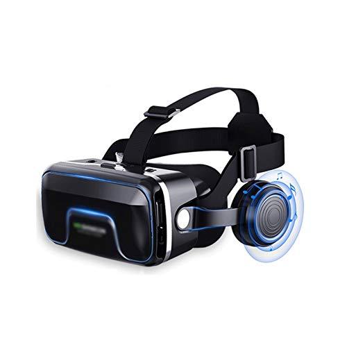 HDCDKKOU Auriculares VR, Auriculares de Realidad Virtual de Gafas 3D para Juegos de VR y películas en 3D, Gafas VR 3D para Juegos móviles y películas, Compatible con 4.7-6.2 Pulgadas Teléfono
