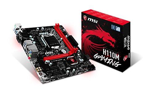 MSI Mainboard H110M GAMING LGA1151 max 32GB 2x DDR4 2x PCIe 1x PCIe x16 1x VGA 1x DVI 4x SATA3 2x USB2.0 2x USB3.1  mATX