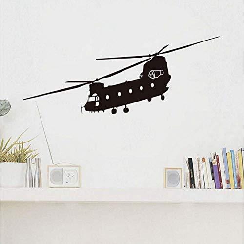 Grote marines helikopter muursticker transport leger behang lijm vinly muurkunst voor jongens slaapkamer 105 * 42 cm