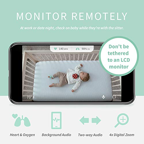 Owlet Smart Baby Monitor Duo (Smart Sock + Camera), Pink