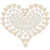 ZesNice Streudeko Hochzeit, 500 Stück Holz Herzen Scheiben Naturholzscheiben unlackiert Holzherzen für Tischdeko DIY Handwerk Verzierungen(Gemischt 4 Größen: 1cm 2cm 3cm 4cm) - 3
