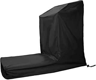 Treadmill Covers for Home Running Machines with Zipper & Drawstring - Black