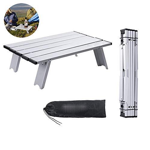 Kleine metalen mini rollen aluminium opvouwbare camping tafel opvouwbaar drinkbaar camping bureau tafels lichtgewicht picknicktafel