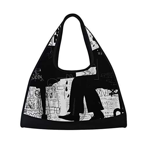 KIMDFACE Sporttasche,Symbolischer Bild-Mann, der Klavier spielt,Neue Druck Verschiedene Muster Sport reisetaschen sporttaschen Kurze Reise Rucksack umhängetaschen