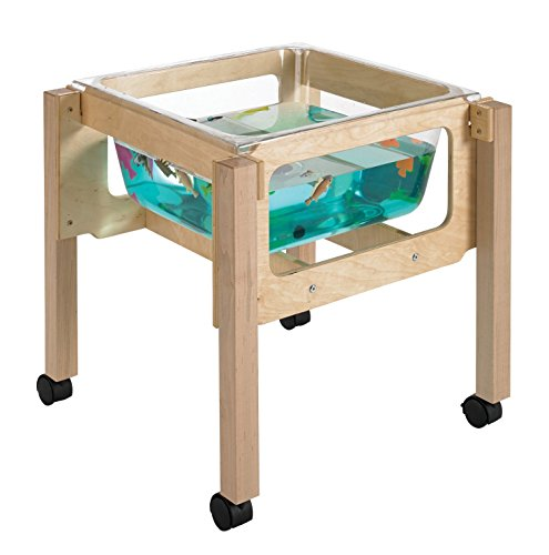 """Childcraft 1491069 Sand and Water Table, 24"""" Height, 23.25"""" Width, 23.25"""" Length, Natural Wood"""