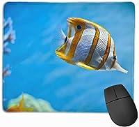 マウスパッド ゲーミングマウスパット 水中の魚 高級感 最適 高級感 おしゃれ 防水 耐久性が良い 滑り止めゴム底 ゲーミングなど適用 マウスの精密度を上がる 疲労軽減 作業 マウスパット ( 25*30 Cm )