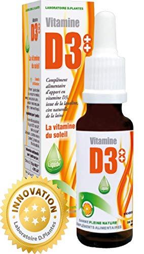 D.Plantes - Vitamine D3++ Huile 400 UI 20 ml - Lot de 2