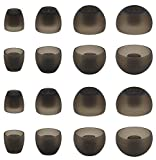ALXCD Ear Adapters Replacement for Sennheiser Momentum True Wireless 2 Earbuds, XS/S/M/L 4 Sizes 8 Pairs Silicon Ear Tip Adapters, Compatible with Momentum True Wireless, 8 Pairs, Gray