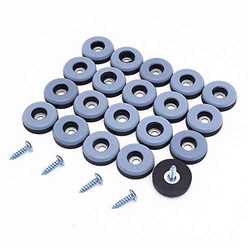 Shintop Furniture Glides, 20 Stück Teflon Möbelgleiter zum Schrauben PTFE Gleiter für Möbel Easy Mover