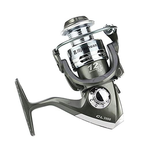 MHSHKS Carrete Giratorio Carrete De Pesca De Alta Velocidad Carrete De Pesca De Rueda Giratoria Carrete De Pesca De Carrete Carretes De Pesca Giratorios Plegables (Spool Capacity : 3000)