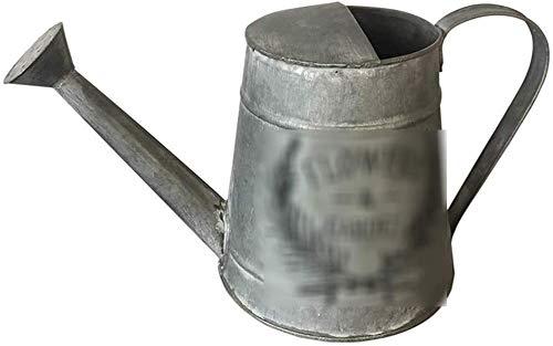 NJIUHB Gieter, sprayflessen Watering Indoor Nevelfles huishouden ijzer Iron Kettle Retro Flower Nostalgia Dry Tekening van de Bloem Bloem Tube, 2L (Color : Multi-colored, Size : 31.5 * 15.7 * 17.5cm)