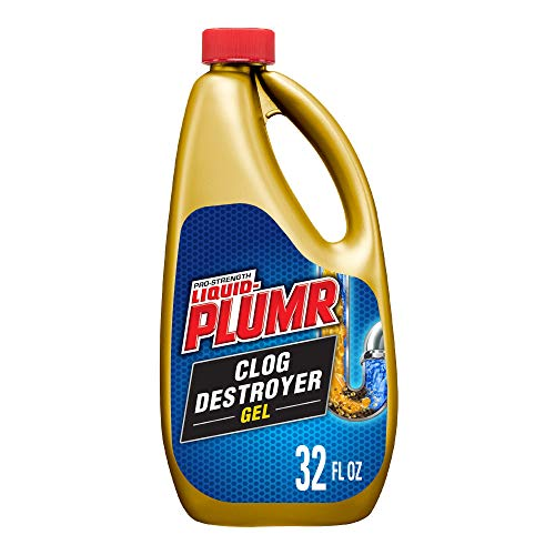 drain cleaner for standing waters Liquid-Plumr Pro-Strength Clog Destroyer Gel with PipeGuard, Liquid Drain Cleaner - 32 Ounces