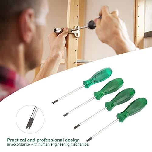 Regun Conductor Destornillador Kit-T Tipo de Destornillador en Forma de U con Alta Transparente de la manija del PVC y S2 del Destornillador del Acero Varilla (4 PC/Paquete)