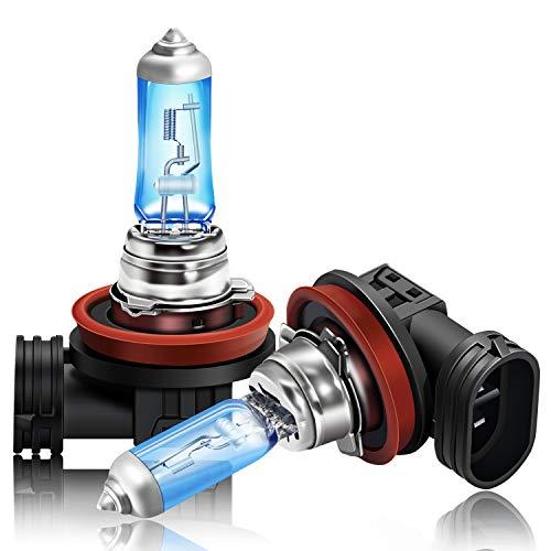 DZG Kit di sostituzione lampadine alogene H16 per fendinebbia 19W 5000K Lampada bianca calda super brillante 12V Auto, 2 pezzi