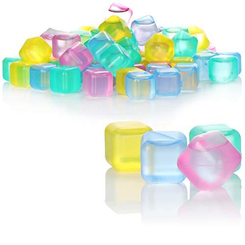 COM-FOUR 72x cubitos de hielo reutilizables en diferentes colores para enfriar bebidas [la selección varía] (72 piezas - Dice V2)