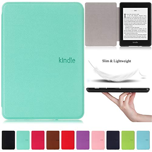 Kindle Paperwhite 2018 Case, Artyond Premium PU Leather Folio Smart Cover Build in Magnetic with Auto Sleep/Wake Case for All-New Amazon Kindle Paperwhite 10th Gen 2018 Releases (Mint)