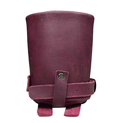 Hide & Drink, Cruzy Leather Bike Handlebar Cup Holder, Insulated Beverage Pouch for Commuters, Minimalist Bikers, Cyclers, City Nomads, Urban Nomad Handmade Includes 101 Year Warranty :: Sangria