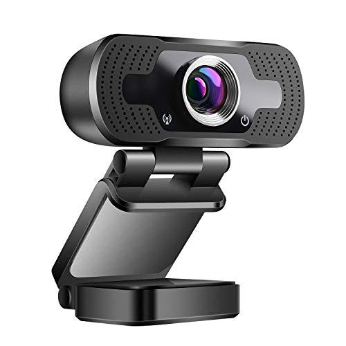 ZILNK USB Webcam mit Mikrofon 1080P Voll HD, 2MP USB Kamera für Videoanrufe/Videokonferenzen/Online-Unterricht Lernen/ Skype, Kompatibel mit PC Laptop Desktop MacBook/Windows Android iOS, Weitwinkel
