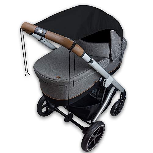 Bambino Benni Universal Sonnensegel für alle Kinderwagen und Verdecksportwagen, Sonnenschutz und Sichtschutz Kinderwagen mit einfacher Befestigung, UPF50+ zertifiziert