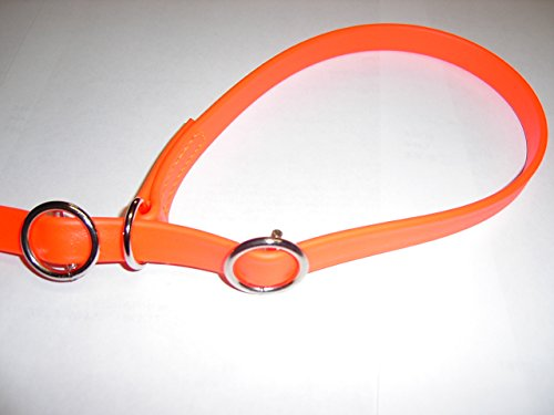 Angel for Pets MJH Moxon, Retriever Leine Beta BioThane 16mm breit, 3m lang mit Handschlaufe (orange)