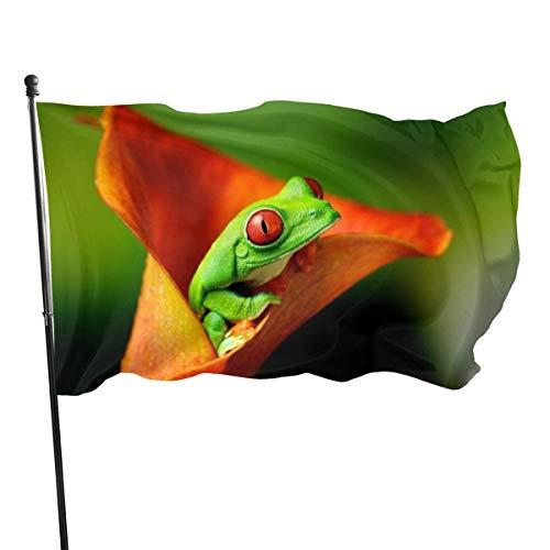 Dem Boswell Ranas Jumping Yard Flag Vertical Al Aire Libre Bienvenido Stand Resistente a la Intemperie Banderas de acción de Gracias para Granja Decorativa Grande 3X5 pies