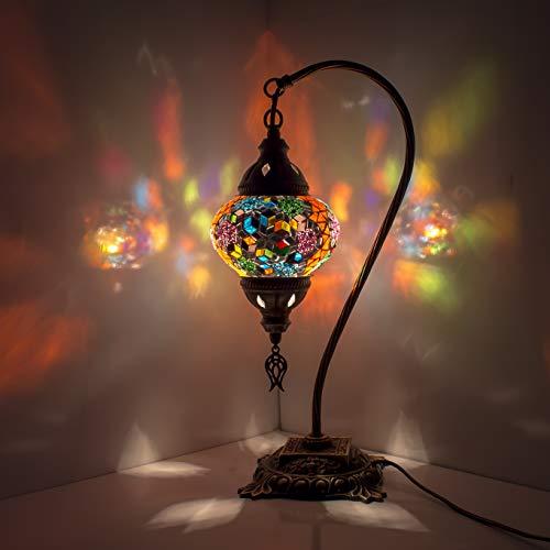 Lampada da tavolo a mosaico fatto a mano turco mosaico lampada in vetro candelabro marocchino stile Tiffany lampada decorativa di notte per soggiorno camera da letto