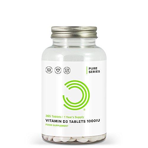 BULK POWDERS Vitamin D3 Tabletten, 1000 IU, 1 Jahr Lieferung, 365 Tabletten